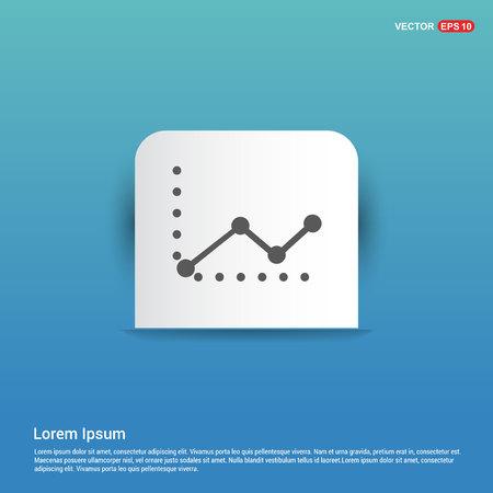 Business graph icon - Blue Sticker button