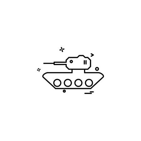 military tank war weapon icon vector design