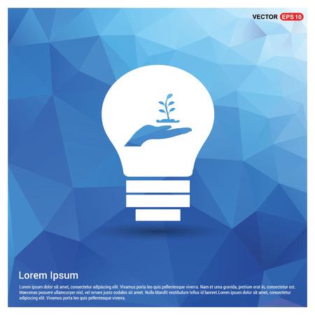 Presentation on Save the plant icon