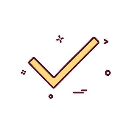 Tick icon design vector