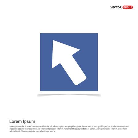 Arrow Icon - Blue photo Frame