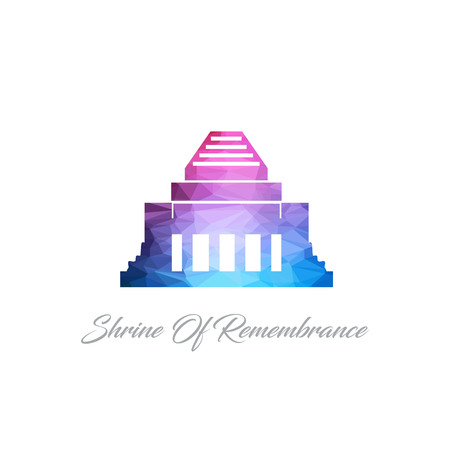 World Famous landmarks design with creative background vector