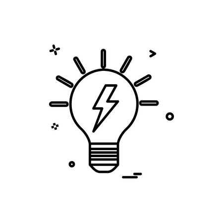 blub power electric icon vector design