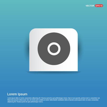 Cd disc icon - Blue Sticker button Иллюстрация