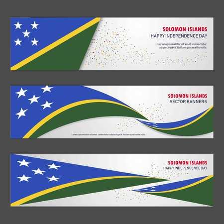 Solomon Islands independence day abstract background design banner and flyer, postcard, landscape, celebration vector illustration Çizim