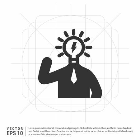bulb concept Creative idea icon Stock Illustratie