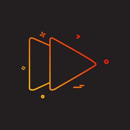 Forward Media icon design vector