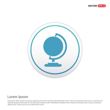 globe icon - white circle button