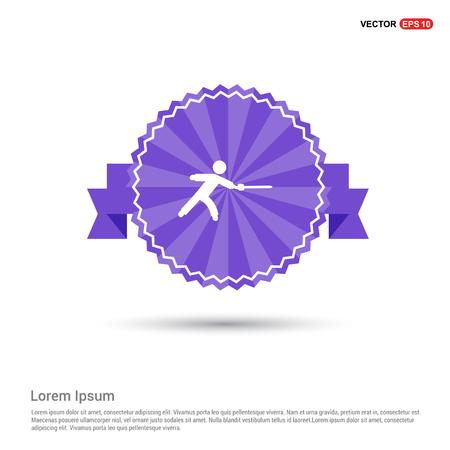 Swordman Icon - Purple Ribbon banner