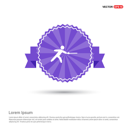 Swordman Icon - Purple Ribbon banner