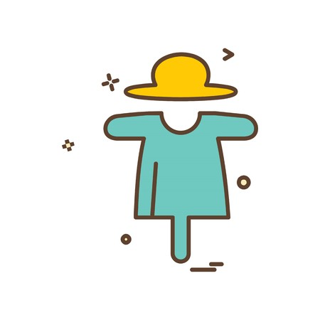 Farm puppet icon design vector