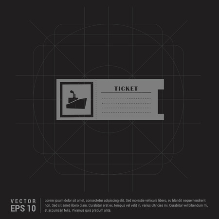 ticket icon - Black Creative Background - Free vector icon
