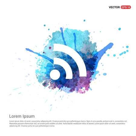 wifi icon - Watercolor Background