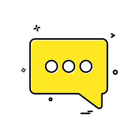chat popup sms icon vector design Vector Illustratie