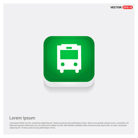 City bus icon Illustration