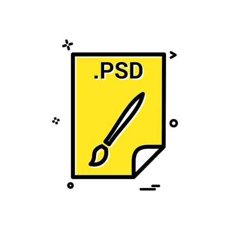 PSD application download file files format icon vector design