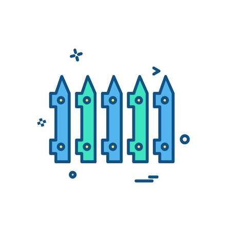 Wandbegrenzung Symbol Design Vektor Vektorgrafik