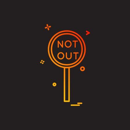 notout decision umpire icon vector design Stock Vector - 113255676