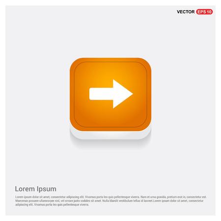 Next Arrow Icon Orange Abstract Web Button - Free vector icon