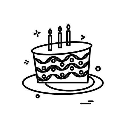 Cake icon design vector Stock Illustratie