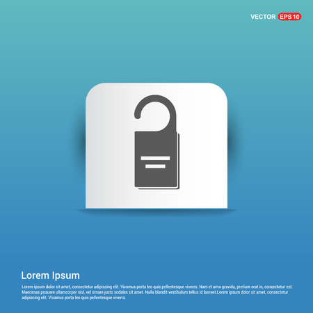 lock icon - Blue Sticker button