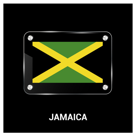 Jamaica flag design vector