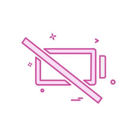 Empty battery icon design vector  イラスト・ベクター素材
