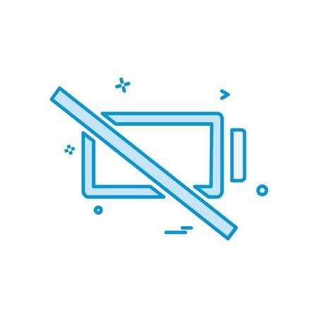 Empty battery icon design vector Illusztráció