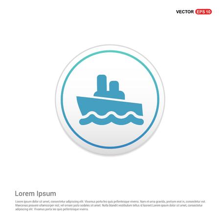 Cruise Icon - white circle button Ilustração