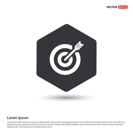 Target Icon Hexa White Background icon template - Free vector icon