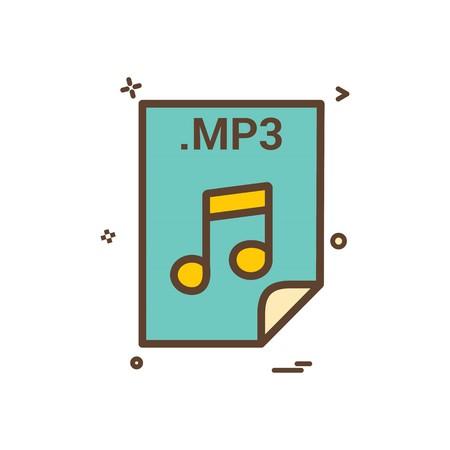 mp3 application download file files format icon vector design