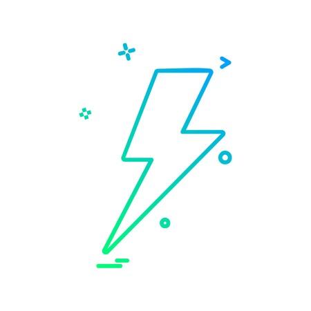 Thunder icon design vector 向量圖像