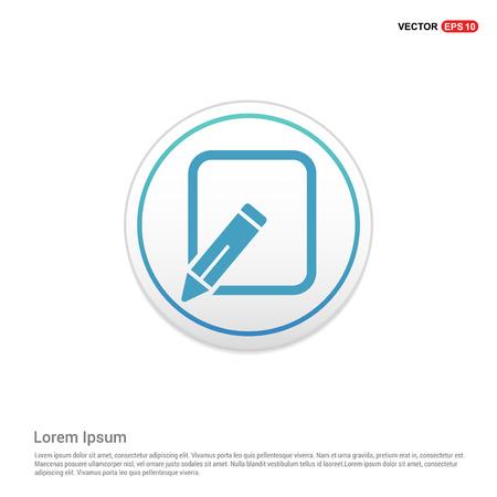 Edit, pencil icon - white circle button