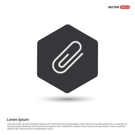 paper clip icon Stock Vector - 118316362