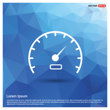 Speedometer Icon - Free vector icon Illustration