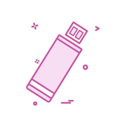 Usb icon design vector Ilustração