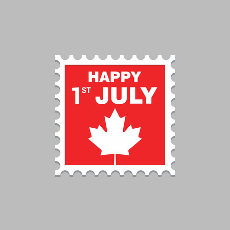 Canada Independence day design card vector