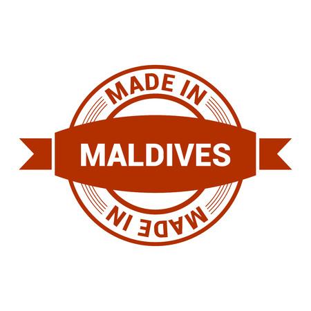 Maldives stamp design vector Ilustração