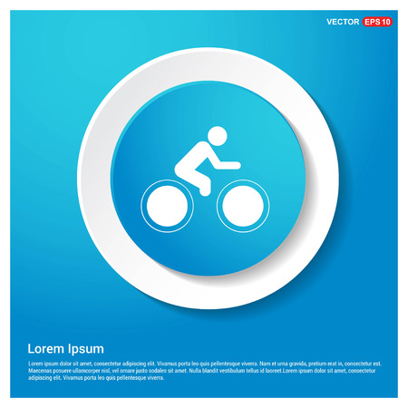 Track Cycling Icon Abstract Blue Web Sticker Button - Free vector icon