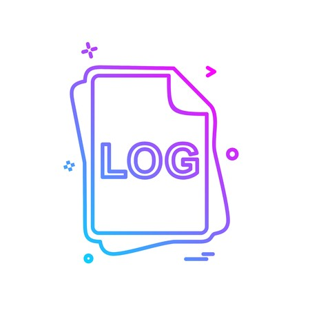 LOG file type icon design vector