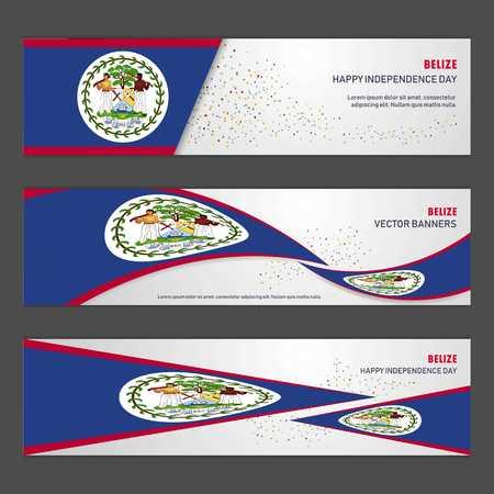 Belize independence day abstract background design banner and flyer, postcard, landscape, celebration vector illustration
