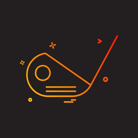 golf stick icon design vector