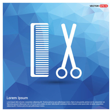 Hair Comb and Scissor Icon