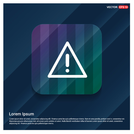 warning icon - Free vector icon