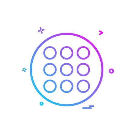 grid list icon vector design