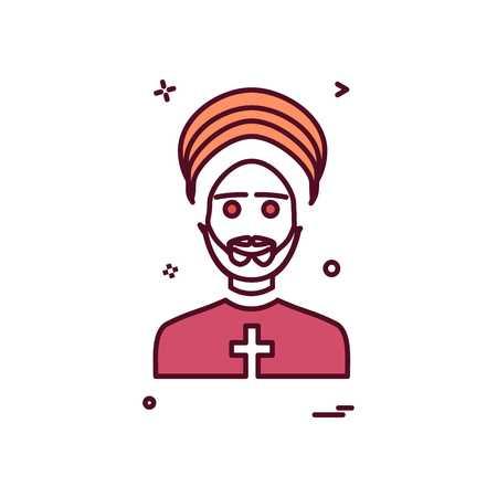 Father icon design vector