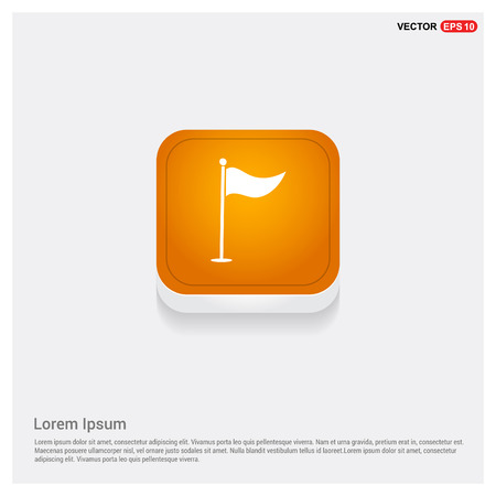 Golf Flag Icon Фото со стока - 115178177