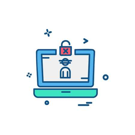 Cyber security icon design vector