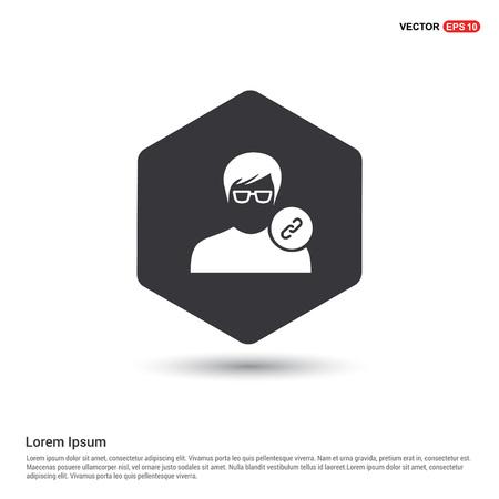 link attach user icon .