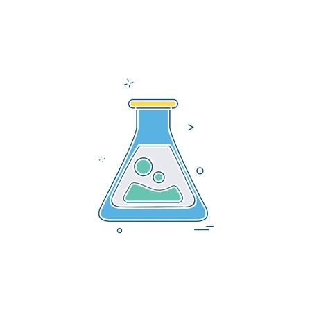 flask lab icon vector design Foto de archivo - 113801289